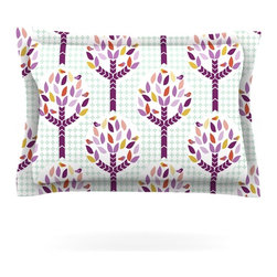 """Kess InHouse - Pellerina Design """"Orchid Spring Tree"""" Purple Abstract Pillow Sham (Woven, 30"""" x - Pairing your already chic duvet cover with playful pillow shams is the perfect way to tie your bedroom together. There are endless possibilities to feed your artistic palette with these imaginative pillow shams. It will looks so elegant you won't want ruin the masterpiece you have created when you go to bed. Not only are these pillow shams nice to look at they are also made from a high quality cotton blend. They are so soft that they will elevate your sleep up to level that is beyond Cloud 9. We always print our goods with the highest quality printing process in order to maintain the integrity of the art that you are adeptly displaying. This means that you won't have to worry about your art fading or your sham loosing it's freshness."""