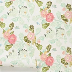 "Shelley Hesse - Watercolor Peony Wallpaper - SureStrip backing allows for paste-free application and easy removalGravure-printed paperRoll: 33'L, 20.5""WRepeat: 20.5""LCovers 56 square feetUSA"