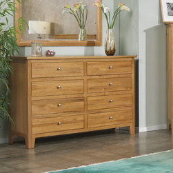 AYCA Furniture - Cottage Cherry 8 Drawer Dresser - Cottage Cherry 8 Drawer Dresser