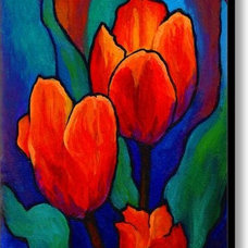 Tulip Trio Canvas Print / Canvas Art By Marion Rose