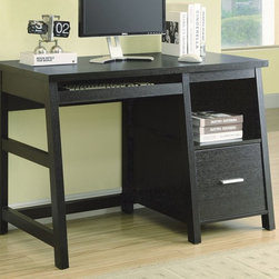 Monarch Specialties - Monarch Specialties 48x24 Rectangular Computer Desk w/ Storage Drawer - Are you looking for an all in 1 work station? Look no further. This sleek yet regal work station offers a large pull out keyboard tray, deep file folder drawer and an open storage bin for supplies. Add this functional desk to any room in your home. Great for small rooms, apartments, kitchens and students.