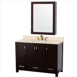 "Wyndham Collection - Wyndham Abingdon Vanity 48"" Espresso - Distinctive styling and elegant lines come together to form a complete range of modern classics in the Abingdon Bathroom Vanity collection. Inspired by well established American standards and crafted without compromise, these vanities are designed to complement any decor, from traditional to minimalist modern."