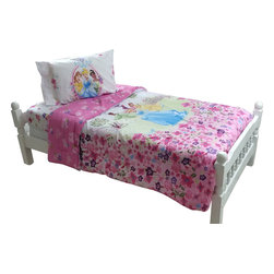 Store51 LLC - Disney Princess Twin Bedding Set Royal Garden Bed - Features: