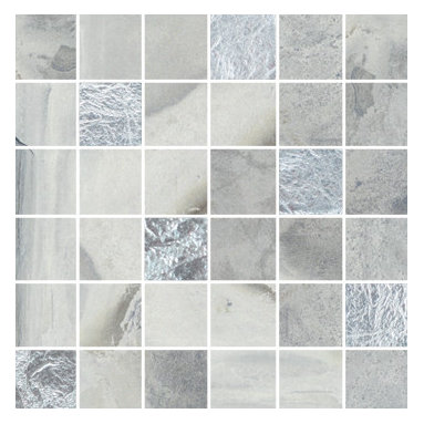 Raja Collection Himachal White Mosaic with Glass - Raja replicates the exotic slate found in India thanks to the most advanced inkjet technology.