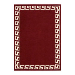 """Barclay Butera Lifestyle - Barclay Butera Lifestyle BBL10 Kaleidoscope KAL01 5'3"""" x 7'5"""" Spice Area Rug 151 - Classic Greek Key adds an element of sophistication and timeless appeal to any room. Warm and sensual in rich cinnamon tones, this lush, pure wool rug will add a sensual warmth to your decor. The beautiful nuanced center field of color is enhanced by the bold border in cream."""