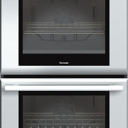 Thermador - 30 inch Masterpiece® Series Double Oven MED302JS - With True Convection and 14 cooking modes, our 30-inch Masterpiece Double Oven gives you 9.4 combined cubic feet of oven capacity and the convenience of cooking several dishes at the same time without flavor transfer.