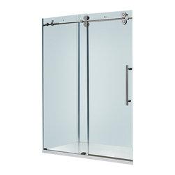 Vigo - Vigo 60-inch Frameless Tub door 3/8in.  Clear Glass Chrome Hardware - Make your bathroom an oasis with a Vigo frameless tub enclosure.