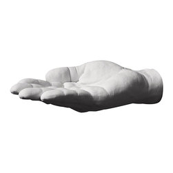 Areaware - Offer Hand Hook - Harry Allen for Areaware - Cast from the designer's hand. Offer is a catchall for keys, change, soap, or any small thing that needs an offering hand. Includes wall mounting hardware.