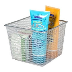 Design Ideas - Design Ideas Mesh Storage Bins, Small - Our Small sized Mesh Storage Bins by Design Ideas, are made from stainless steel wire, so they are sure not to rust and will become a staple item in your home. These are great for garages, kitchens, or any other room in need of organizing.