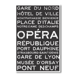 PosterEnvy - Paris Train Station Metro Signs - NEW World Travel Poster - Paris Train Station Metro Signs - NEW World Travel Poster