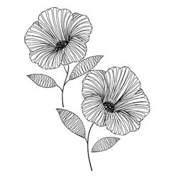 WallPops - Venus Wall Art Decal Kit - Venus, the goddess of love, lends her beautiful name to this contemporary flower wall art. Bursting with cosmic style, these black and white blossoms are like a black and white sketch or a tattoo for your walls, elegant yet edgy.