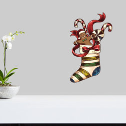 Christmas Stocking Vinyl Wall Decal ChristmasStockingUScolor013; 72 in. - Vinyl Wall Decals are an awesome way to bring a room to life!