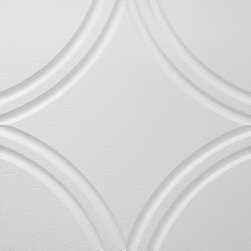 IDS Group - 2x2 White Decorative Ceiling Tiles, San Diego Design - Total Coverage: 32 SqFt (Box of 8)