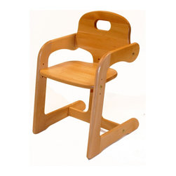 Kettler Child's Mini Tipp Topp Chair - For giving your child a little added height at dinnertime, we love this Mini Tipp Top Chair. Made from solid wood, this simple piece adjusts to three height positions an supports up to 100 pounds. When not in use, this chair actually looks great against a dining room wall.