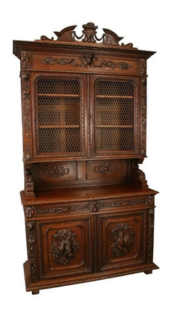 EuroLux Home - Consigned Antique French Buffet Wine Cabinet Hutch - Product Details