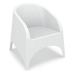 Compamia - Aruba Resin Wickerlook Chair, White - Set of 2 - Aruba Resin Wickerlook Chair, White - Set of 2