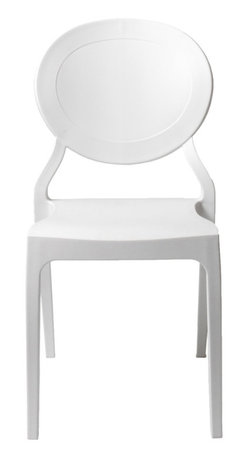 Eurostyle - Vasska Side Chair (Set Of 2)-Wht - Easy to clean polypropylene