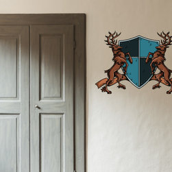 Family Crest Vinyl Wall Decal FamilyCrestUScolor005; 72 in. - Vinyl Wall Decals are an awesome way to bring a room to life!