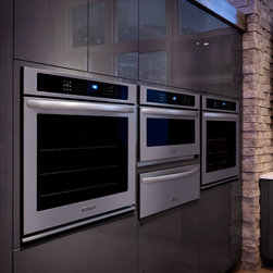30-Inch Convection Single Wall Oven, Architect® Series II Model# KEBS109BSS - 30-Inch Convection Single Wall Oven, Architect® Series II