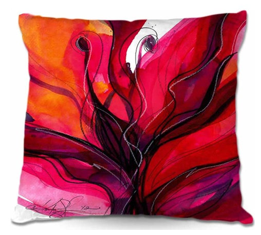 DiaNoche Designs - Pillow Woven Poplin - Soul Flower 60 - Toss this decorative pillow on any bed, sofa or chair, and add personality to your chic and stylish decor. Lay your head against your new art and relax! Made of woven Poly-Poplin.  Includes a cushy supportive pillow insert, zipped inside. Dye Sublimation printing adheres the ink to the material for long life and durability. Double Sided Print, Machine Washable, Product may vary slightly from image.