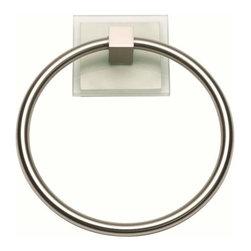 Atlas Homewares - Atlas Homewares Etr-Brn Eucalytpus 6-Inch Towel Ring, Brushed Nickel - Atlas Homewares Etr-Brn Eucalytpus 6-Inch Towel Ring, Brushed Nickel