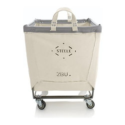 Steele Square Canvas Bin - I have been obsessed with these canvas baskets for years. I love their industrial look, and they are super functional and versatile. This company has been in business since the early 1900s, and everything is still made in the US.