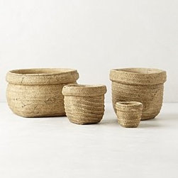 "Anthropologie - Basket-Weave Garden Pot - TerracottaWipe with dry clothMini: 2.75""H, 3"" diameterSmall: 4.25""H, 5.25"" diameterMedium: 6""H, 7.25"" diameterLarge: 6""H, 7.25"" diameterImported"