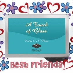 WL - Hearts and Flowers Design Glass Photo Frame with Best Friends Caption - This gorgeous Hearts and Flowers Design Glass Photo Frame with Best Friends Caption has the finest details and highest quality you will find anywhere! Hearts and Flowers Design Glass Photo Frame with Best Friends Caption is truly remarkable.
