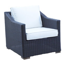 Wicker Paradise - Patio Wicker Outdoor Chair Portofino: Black Forest - A classic look with our stylish outdoor wicker Portofino chair. Made to please and give you the start to a complete patio seating arrangement.