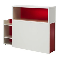 Ebba Strandmark - ODDA Headboard with storage compartment - Headboard with storage compartment, white, red