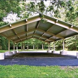 Fifthroom - 30' x 42' All Steel Gable Rectangular Savannah Pavilion -