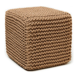 Anji Mountain - Anji Mountain Natural Jute Pouf - This pouf brings some stylish versatility to your living space. Perfectly sized for duty as a stool or an ottoman and ready to switch gears at a moments notice. It sits nice and firm for excellent support yet offers a touch of comfort with a natural jute cover. Pouf (1)