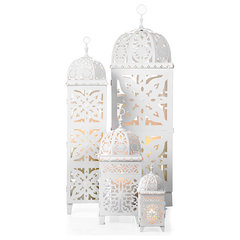 mediterranean candles and candle holders by Z Gallerie
