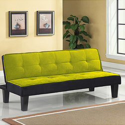None - Hamar Green Finish Adjustable Sofa - This sofa is the perfect addition to your home with its stylish versatility. This furniture features an attractive finish for elegance.