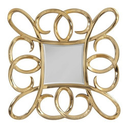 Bassett Mirror - Remarco Gold Finish Wall Mirror - Remarco Gold Finish Wall Mirror by Bassett Mirror