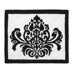 Sweet Jojo Designs - Isabella Hot Pink, Black and White Rug by Sweet Jojo Designs - The Isabella Hot Pink, Black and White Rug by Sweet Jojo Designs, along with the  bedding accessories.