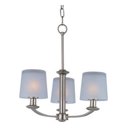 Maxim Lighting - Maxim Lighting 21504FTSN Finesse 3-Light Chandelier - Maxim Lighting 21504FTSN Finesse 3-Light Chandelier