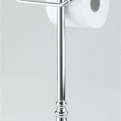 Taymor - Double European Toilet Tissue Holder - Holds two any size rolls of toilet tissue. Weighted bottom prevents holder from falling over. Easy to use and elegant display. Wipe clean with soft damp cloth. Do not use any harsh abrasives or chemicals. Made from plated steel. Chrome finish. Base: 7 in. Dia.. Overall: 6 in. L x 22.25 in. H (10 lbs.)Enjoy the elegant pleasures of Taymor's Grand Collection Double Euro Toilet Tissue Holder. Sure to add beauty and elegance to any main or guest bathroom.