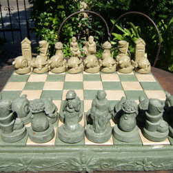 Gardeners Chess Set - I have a friend who's condo complex has a life size chess set in the garden. While this is quite a bit smaller, I still love the idea of setting up an ongoing chess game. It's a great way to enjoy the outdoors while you play or it will just look great if you don't play.
