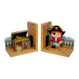 Fantasy Fields - Fantasy Fields Pirates Island Set of Bookends Multicolor - TD-11605A - Shop for Bookends from Hayneedle.com! If you're not adding the Pirates Island Bookshelf to your child's room right now you can still create a coordinated nautical look with the Fantasy Fields Pirates Island Set of Bookends. Keep favorite reads organized and standing tall with these artfully carved hand-painted bookends. Made with sturdy solid wood and MDF they're a fabulous gift for all ages. Non-toxic paint.About Teamson DesignBased in Edgewood N.Y. Teamson Design Corporation is a wholesale gift and furniture company that specializes in handmade and hand-painted kid-themed furniture collections and occasional home accents. In business since 1997 Teamson continues to inspire homes with creative and colorful furniture.