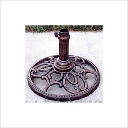 Oakland Living - Oakland Living Round Umbrella Stand-Antique Pewter - Oakland Living - Patio Umbrella Bases - 4101AP - About this product: