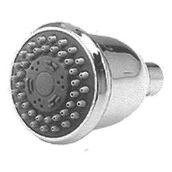 "WHEDON PRODUCTS - SHOWERHEAD 4-SETTING CHROME - Four position showerhead provides hard showers spray, or fast pulsating 9 jet massage or combination spray and massage setting, or water saving pause setting. Standard 1/2"" female thread. Installs easily on any standard shower arm. 3"" face.            Finish=Chrome  This item cannot be shipped to APO/FPO addresses.  Please accept our apologies"