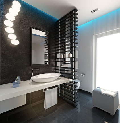 modern powder room by Bathroom By Design