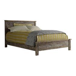 Hampton Rustic Teak Wood California King Bed Frame -