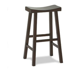 "Tibetan Stool, Large, Mahogany stain - Dramatic angles and comfortable curves give our Tibetan barstool an Eastern style and versatile shape that are at home in any room; made of solid hardwood with rustic visible joinery. Medium: 18"" wide x 15.75"" deep x 27"" high Tall: 18"" wide x 15.75"" deep x 31"" high View our {{link path='pages/popups/fb-dining.html' class='popup' width='480' height='300'}}Furniture Brochure{{/link}}."