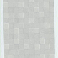 Graham and Brown - Fallon Wallpaper in Gray - It's hip for your walls to be square with this chic geometric paper. Elegantly neutral and designed to create the illusion of three-dimensional texture, it's a subtle but stunning statement.