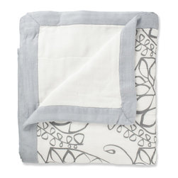 aden and anais - aden + anais Bamboo Dream Blanket in Moonlight Leafy - aden anais Bamboo Dream Blanket in Moonlight Leafy