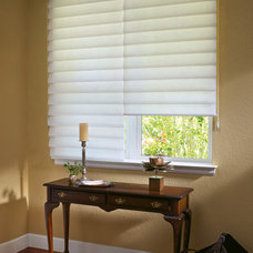 Contemporary Roman Blinds by Home Source Custom Draperies & Blinds