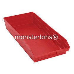 Plastic Bins - Parts Bins - These plastic parts bins are the perfect replacement for worn out cardboard boxes.  When empty, they nest inside of each other to conserve space.  This model is 23-5/8 x 11-1/8 x 4.  They are sold in cartons of 6.