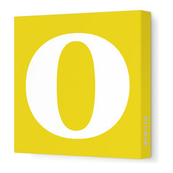 "Avalisa - Letter - Lower Case 'o' Stretched Wall Art, 12"" x 12"", Dark Yellow - Spell it out loud. These lowercase letters on stretched canvas would look wonderful in a nursery touting your little one's name, but don't stop there; they could work most anywhere in the home you'd like to add some playful text to the walls. Mix and match colors for a truly fun feel or stick to one color for a more uniform look."